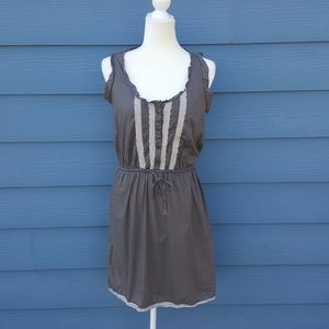 Converse Dress With Lace Hem And Elastic Tie Waist